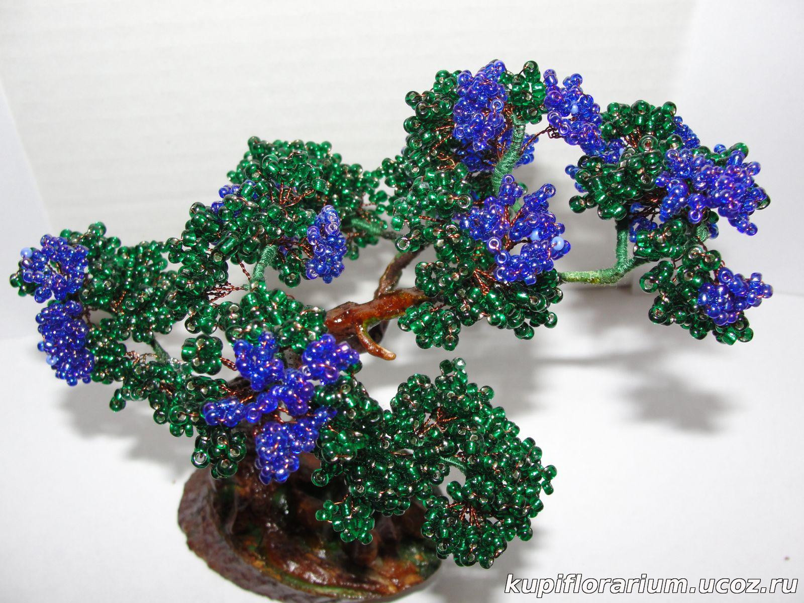Деревья и цветы бисер фото