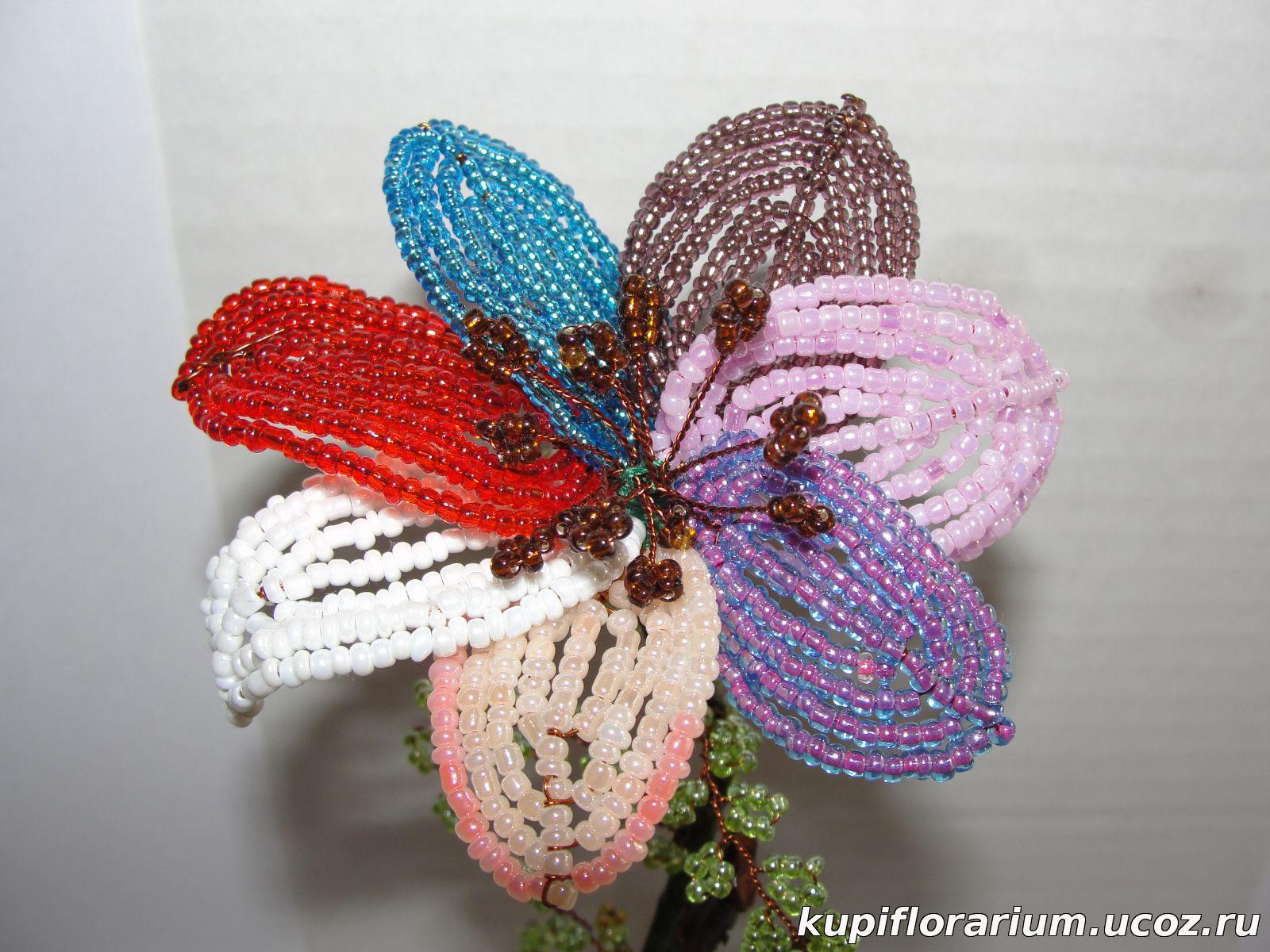 Цветик семицветик из бисера фото