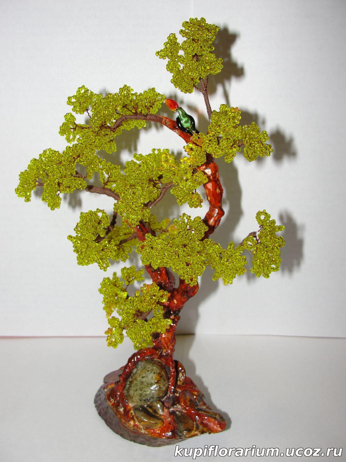 Деревья из бисера фото цена